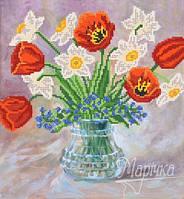 Схема для вышивки бисером Нежные цветы РКП-304
