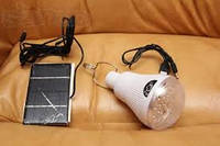 Led лампа фонарь светильник с аккумулятором и солнечной батареей.