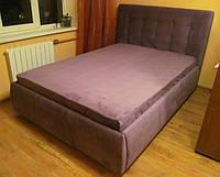 """Двуспальная кровать """"Аэлита лиловый"""" с большим ящиком, с подъемным механизмом на ламелях"""