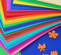 Бумага фоамиран для творчества фом 50*50см 16шт цвета на выбор