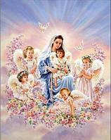 Картина для рисования камнями дева и ангелы стразами Diamond painting Алмазная вышивка алмазами мозаика iLife