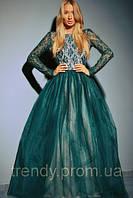 Платье длинное с пышной юбкой из фатина 2217