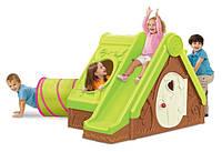 Детский игровой домик  с горкой комплекс Keter Funtivity