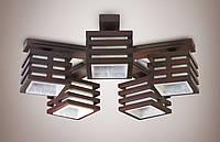 Люстра 5-ти ламповая, деревянная, для зала, для спальни