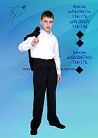 Брюки школьные для мальчика 2867г синие
