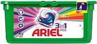 Гель-капсулы для стирки Ariel 3in1 color 32 шт., для цветного белья