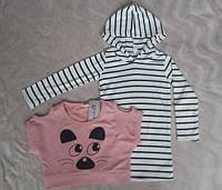 Детский костюм на 3 года из туники и кофточки