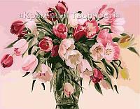 Картина по номерам Тюльпаны в вазе, 40х50см. (MG1072, КН1072)