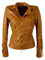Женская весенняя коричневая куртка