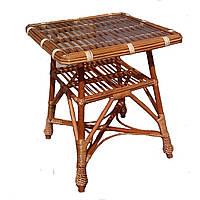 Стол из лозы с прямоугольной столешницей Арт.698-кв
