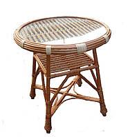 Стол из лозы с круглой столешницей Арт.698-кр