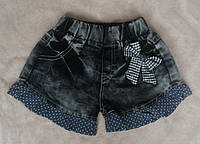 Тонкие джинсовые шорты для девочки на 6-9 мес