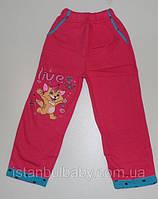 Брюки штаны спортивные  для девочек  (начес) с рисунком  110, 122 см. Турция! Детская спортивная одежда.