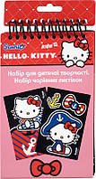 Набор открыток с бархатом + фломастеры (8 шт) KITE 2014 Hello Kitty 219