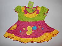 Летнее платье для девочки 6-12 мес