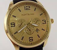 Мужские наручные часы MontBlanc 012543 золото с черным