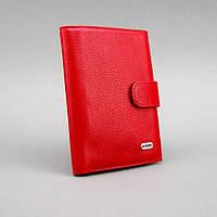 Обложка для документов кожаная паспорт права красная Desisan 102-4
