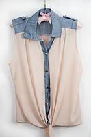 Блуза женская шифоновая бежевая