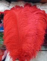 Перо страуса.Цвет Красный.Размер 45-50cм. Цена за 1шт.