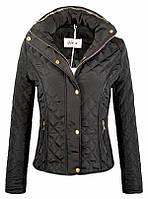 Стеганная женская весеняя куртка на весну черная