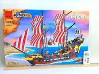 Конструктор  Черная жемчужина  пиратский корабль 870 деталей BRICK