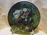 """Настенная декоративная фарфороовая тарелка """"Букет"""" 19 сантиметров диаметр"""