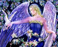 """Набор алмазной вышивки (мозаики) """"Прекрасный ангел"""". Художник Жозефина Уолл"""