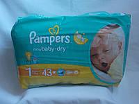 Памперс Pampers active baby 43шт. 1-й размер