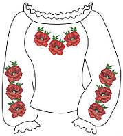 Заготовка женской вышиванки Маки 040