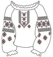 Заготовки для вышивки вышиванок 045