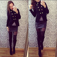 Женский пиджак из теплого трикотажа (2 цвета)