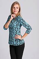Весенняя блуза из жаккардовой ткани с замочком на спине
