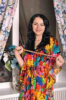Женское домашнее платье Яркое