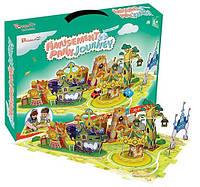 Трехмерная головоломка-конструктор Поездка в парк развлечений. CubicFun