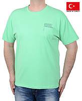 Летняя мужская футболка батального размера.