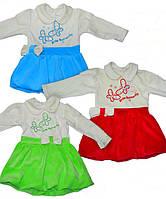 Нарядное платье для девочки велюр