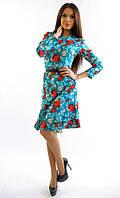 Изящное женское платье,цвет голубой