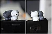 "Заглушка для аудио порта 3,5 мм (ПВХ) ""Котята по имени СУ и ШИ"""