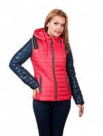 Весенняя женская куртка-жилетка