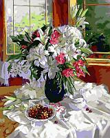 Раскраска по номерам Лилии и красная смородина худ Горячева Светлана (VP334) 40х50 см