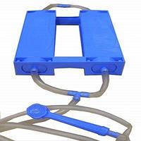 Педальный ножной душ-топтун zenet, комфортное мытьё дома и на даче, шланг с душевым распылителем, напор 2,5 м
