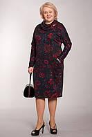 Красочное платье с интересным воротником от производителя больших размеров