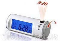 Часы с проектором Chaowei CW8097. Проектор времени, цифровые часы не дорого, проектор на стену