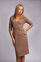 Однотонное трикотажное  платье от производителя