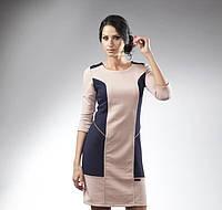 Стильное платье из стеганого трикотажа недорого