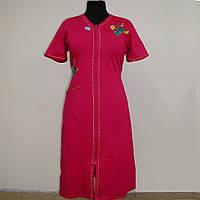 Халат женский  трикотажный с вышивкой