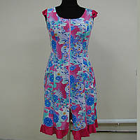 Платье халат для дома с рюшкой