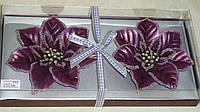 Набор свеч у форме цветков 2 шт фиолетовые