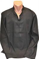 Сорочка под вышивку мужская черная (58,56,52,50,48,46 размер)