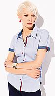 Женская рубашка с коротким рукавом голубого цвета. Модель Fanny Zaps, коллекция весна-лето 2015